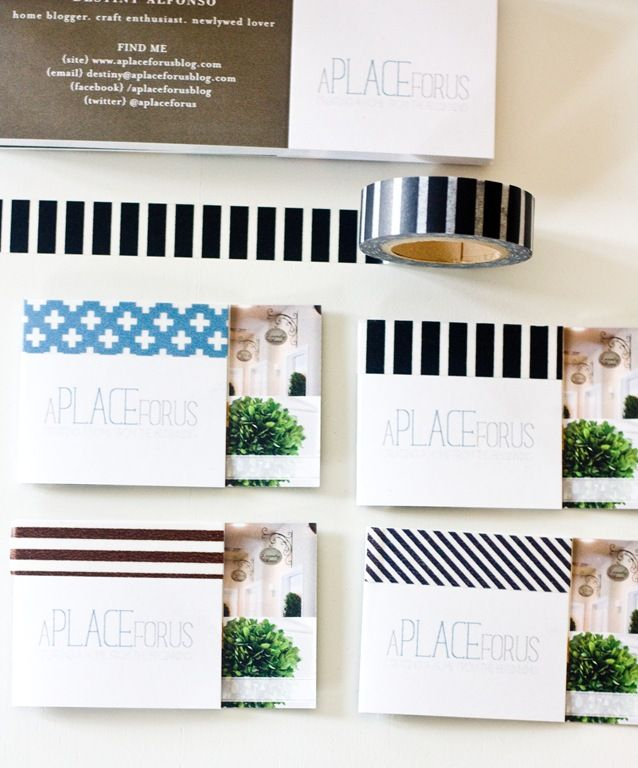 tiny prints business cards with washi tape | Office DIYs | Pinterest ...