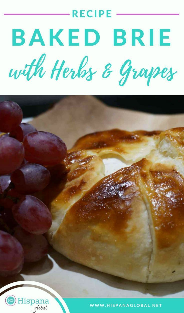 recipe baked brie with herbs and grapes  savory