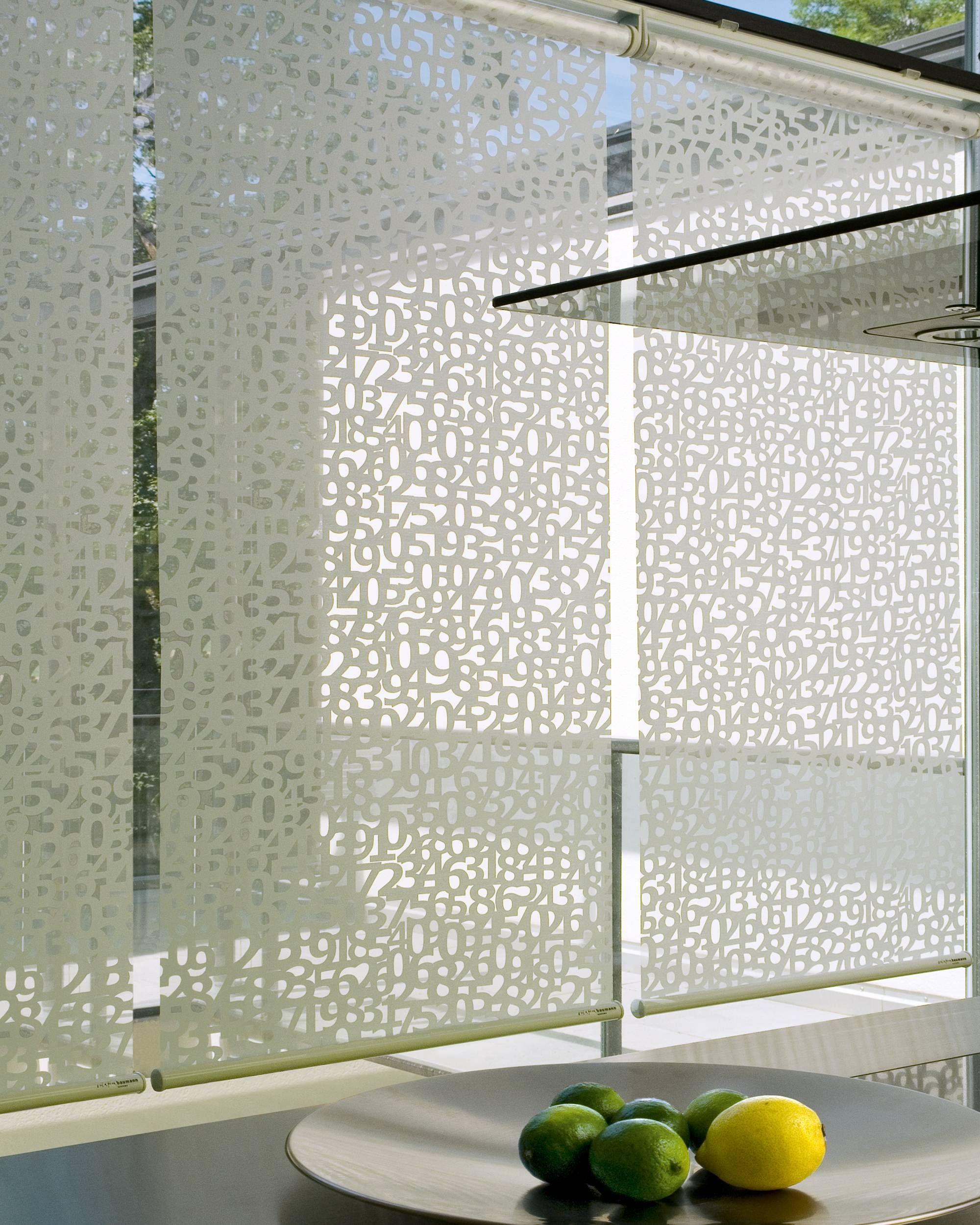 Panneau Store Blanc Ajourés Product Création Baumann DATA R - Porte placard coulissante jumelé avec serrurier paris 17ème