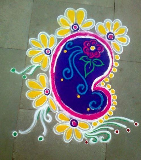 Rangoli Designs Easy and Simple - Rangoli | Simple rangoli ...