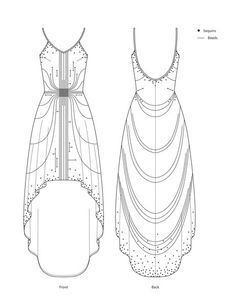 pattern flat line drawing www.sewingavenue.com