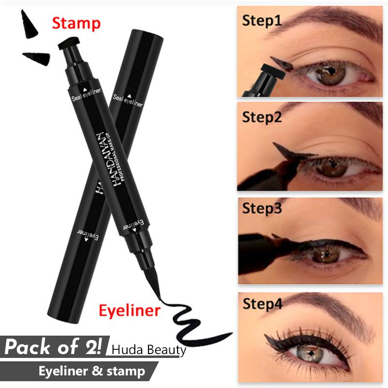 af46fe22866 Pack of 2! Huda Beauty Eyeliner & Stamp (Code: PB-1642) are available  online with best quality, at lowest price in Pakistan and get fastest  delivery.