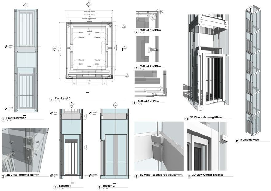 Front Elevation With Lift : Glass lift dimensions google search elevators