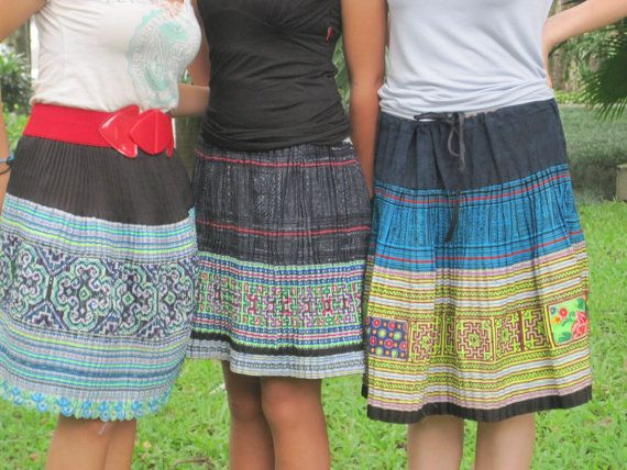 Vietnam Hmong Embroidered Skirt | Hmoob | Skirts, Cute skirts, Fashion