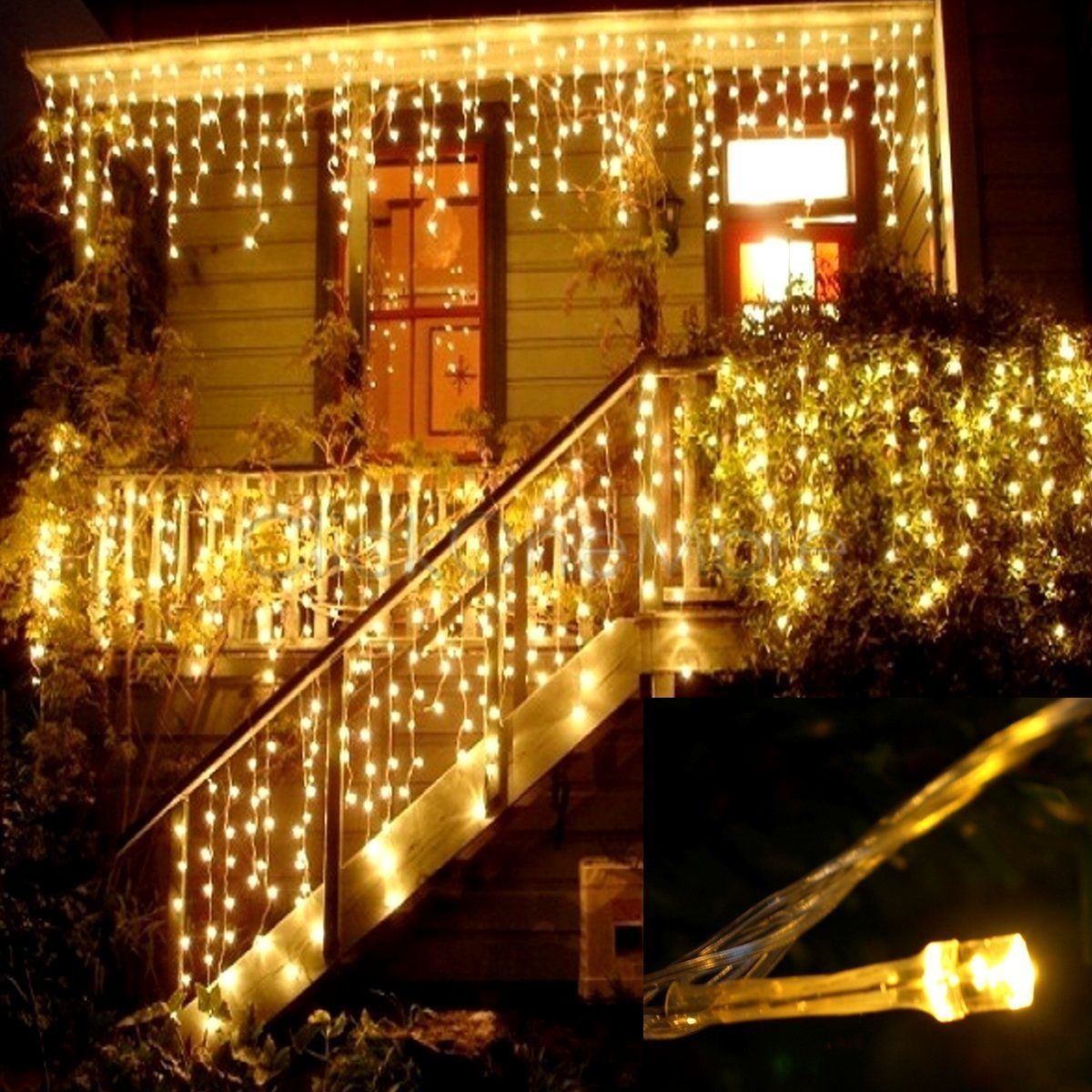 Cheap String Lights Delectable Ilikable Curtain String Lights 144 Leds 13 X 2Ft Fairy Indoor