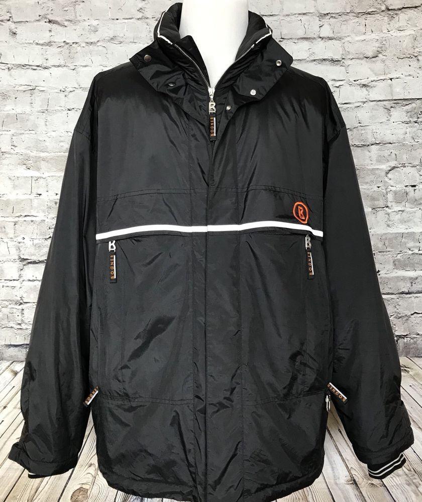 c69a6975c7 Bogner Mens Gore-Tex Black Ski Snowboard Jacket Size 46 XXL Comfort Max