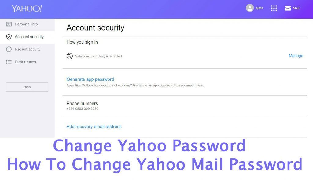 Tap the Menu icon   If using the Yahoo Mail app, tap Manage
