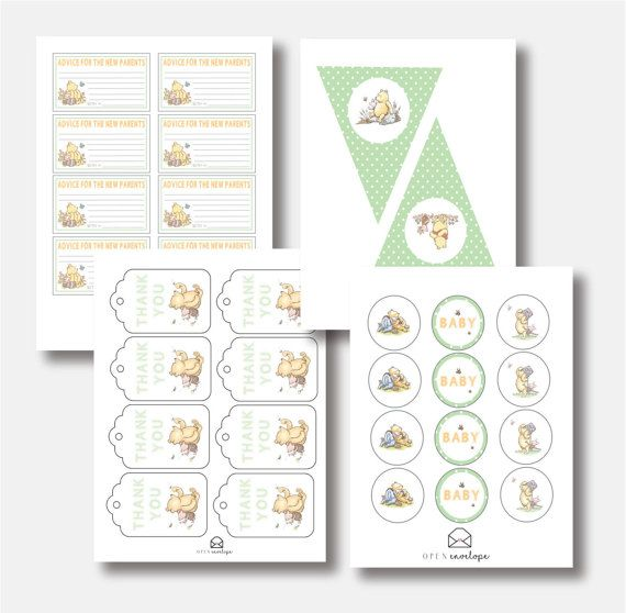 Winnie The Pooh Baby Shower Party Pack