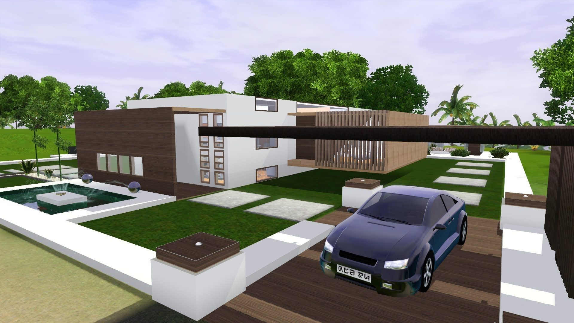 The Sims 3 Modern Minimalist House Paradise Hd The Good