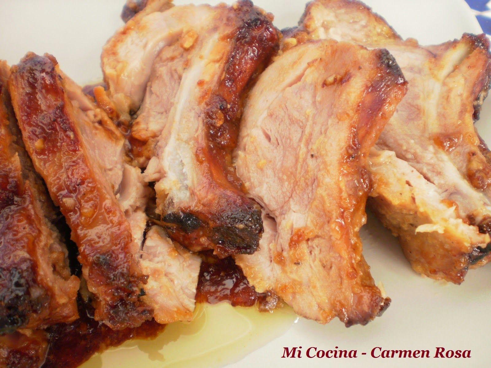 Mi Cocina Corbata De Cerdo Marinada Con Miel Aceite De Sesamo  # Muebles Cocina Sojoa