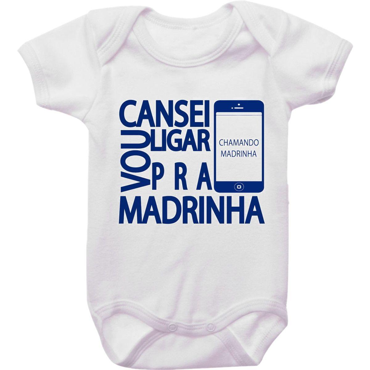 Body Vou Ligar Pra Madrinha Madrinhas Roupas De Bebe Personalizadas Camisetas Engracadas