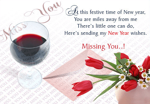 happy new year miss you message to loved one free download
