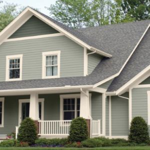 Sherwin Williams Exterior House Paint Colors SW 6199 Rare Gray, SW 7571  Casa Blanca,