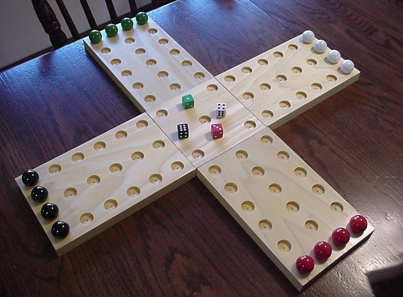 Handmade Wooden Aggravation Game Board 16 Marbles 4 Dice Instructions Handmade Wooden Board Games Wooden Games