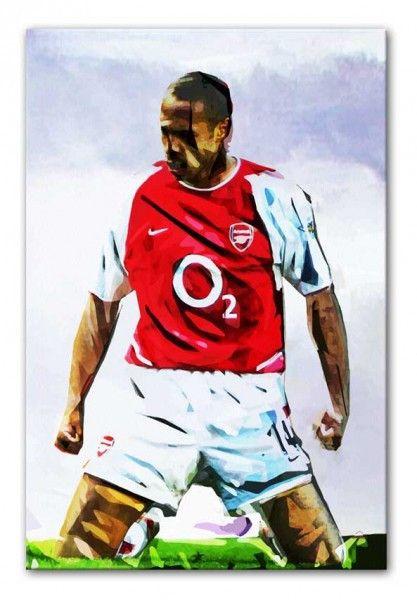 578d303a1 Thierry Henry Arsenal FC Kneeslide Print – pop art designed by Canvas Art  Rocks