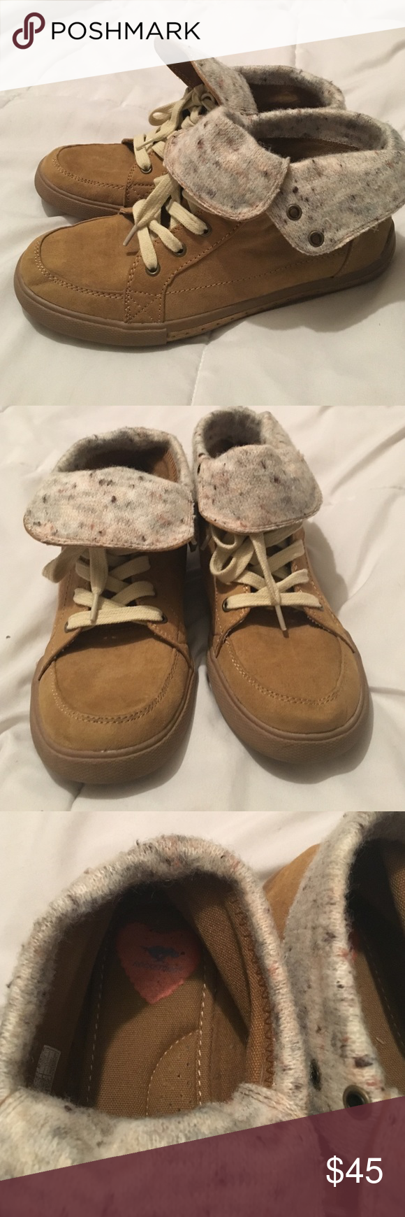 Size 7 Rocket Dog shoes! Super Trendy! Worn only once. Super cute tan Rocket Dog shoes! Just have too many shoes and need to down size. Rocket Dog Shoes Ankle Boots & Booties
