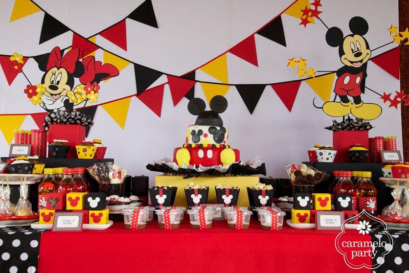 Adornos de cumpleaños de Mickey Mouse - Nocturnar | Proyectos que ...