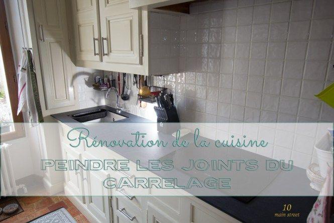 Peinture Carrelage Rouge rénovation de la cuisine : peindre les joints de carrelage rouge