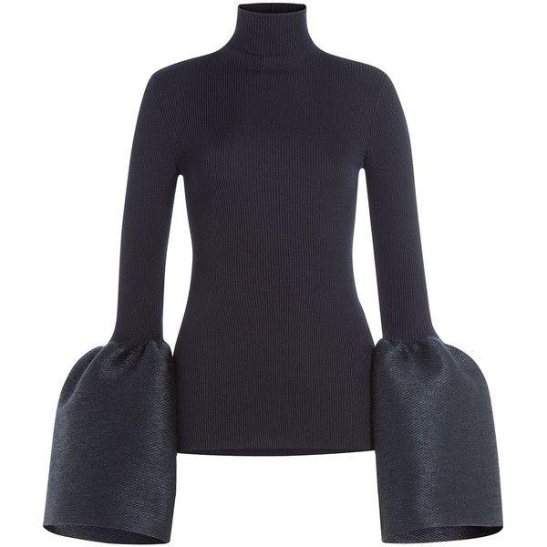 Céline Silk-Cashmere Turtleneck ($933) ❤ liked on Polyvore ...