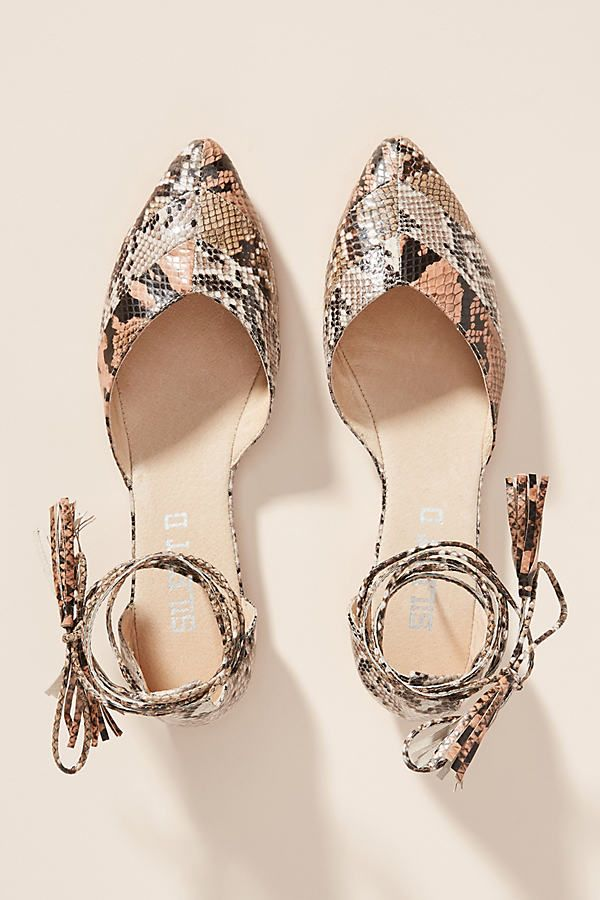 Silent D Hyland Ankle Tie Flats by in Assorted Size: 39, at