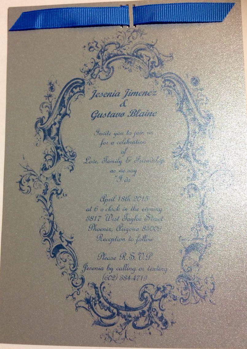 Double sided englishspanish wedding invitation www