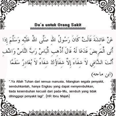 Doa Untuk Orang Sakit Moslem Doa Orang Dan Bersyukur