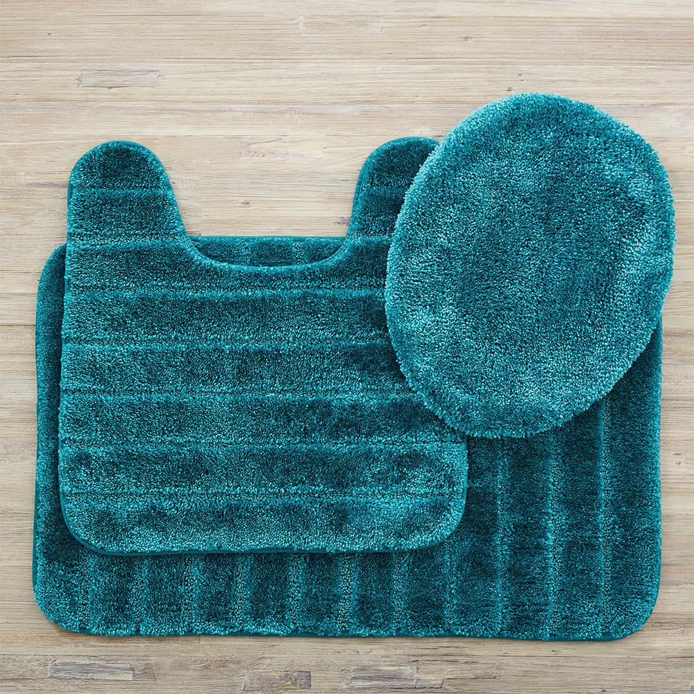Mohawk Home Veranda Bath Rug Teal Set 352577 The Home Depot Teal Bathroom Rugs Bathroom Rug Sets Bath Rugs Sets