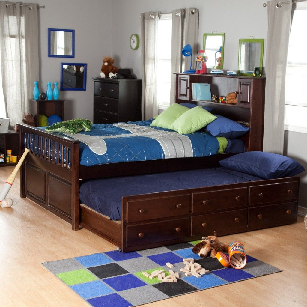 Kids Bedroom Furniture Designs Bookcase Under Flatscreen  Mission Style Slats Under A Flat Top