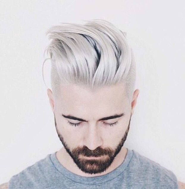 Latest Hair Trend Grey Hair Pearl White For Men Women Men