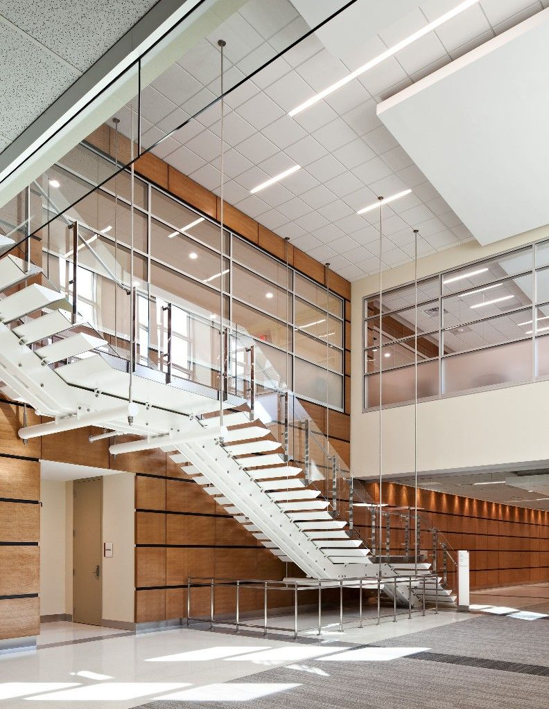 Best Single Stringer Glazed Railing Stair Stairs Architecture Design Firms 400 x 300