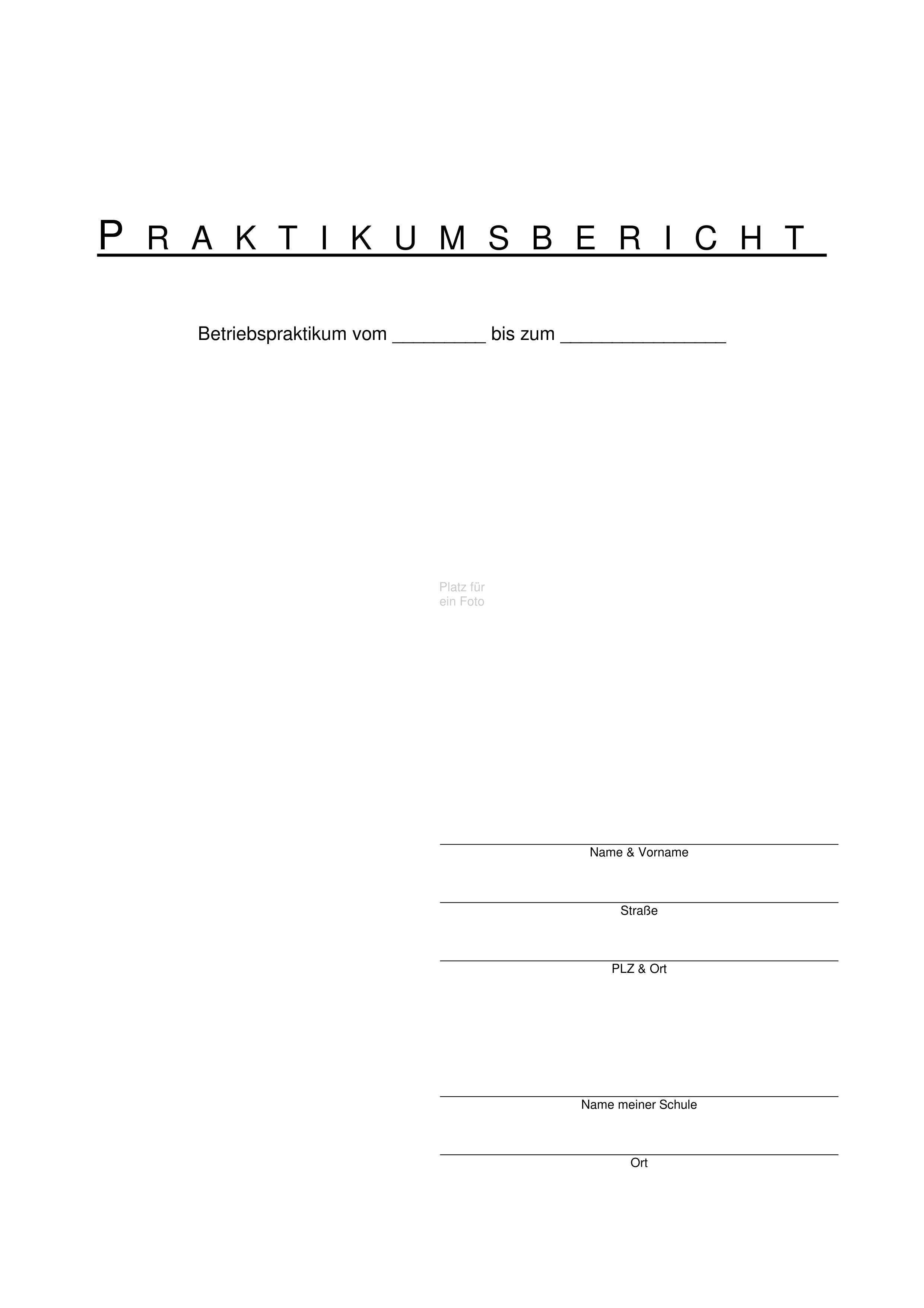 Praktikumsbericht Unterrichtsmaterial In Den Fachern Arbeitslehre Deutsch Praktikumsbericht Forderschule Unterrichtsmaterial