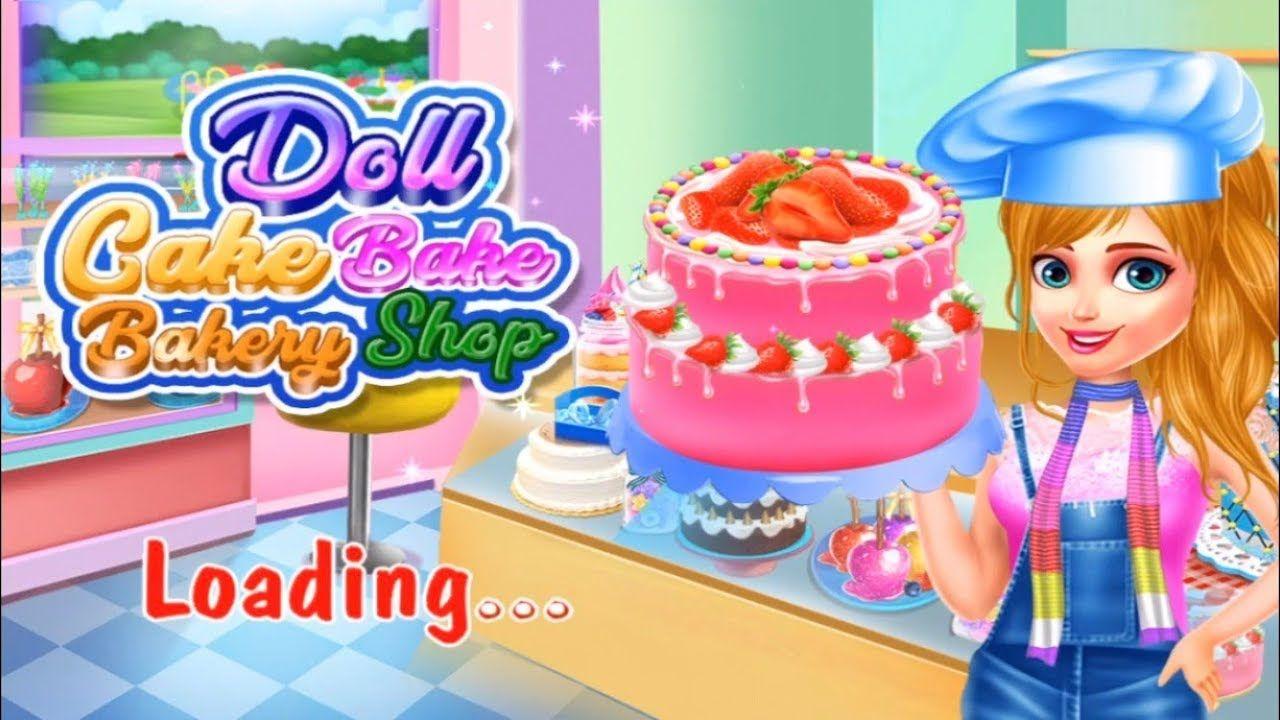 Doll Cake Bake Bakery Shop Fun Dessert Cooking Girl Game