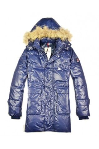 Moncler Men's Multi Pockets Navy Blue Coat