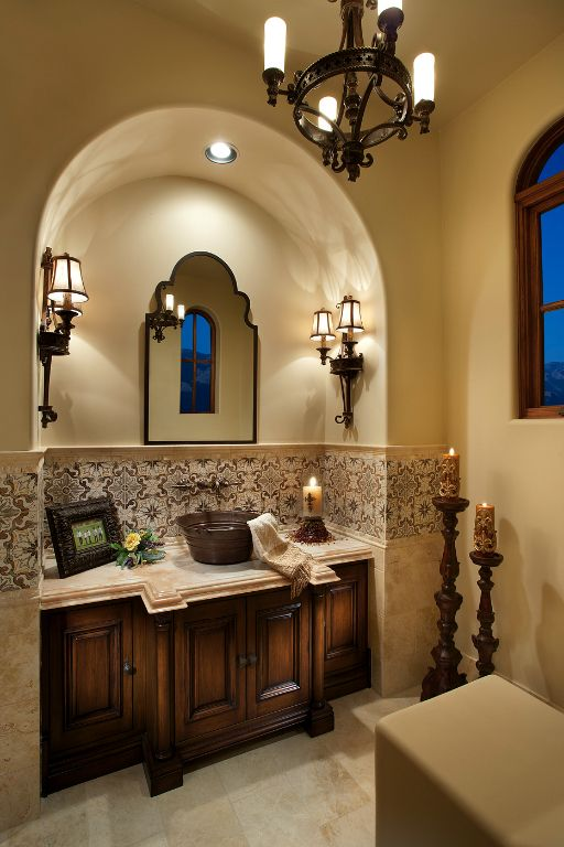 Gorgeous Bathroom   For the Home   Pinterest   Spanish, Tuscan decor on tuscan floor tile, tuscan backyard designs, tuscan style showers, tuscan luxury bathrooms, tuscan furniture ideas, tuscan kitchen, tuscan photography, tuscan vanity sinks, tuscan dining room, tuscan interior colors, tuscan master bathrooms, tuscan interior architecture, walk-in shower with half wall design, private luxury office design, tuscan living room furniture, tuscan stencils designs, tuscan designs jewelry box, tuscan fireplace designs, old world design, tuscan style bathrooms,