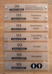 De Signage Office Door Signs   Customised Designs To Suit Clients  Requirements Using Perspex Material
