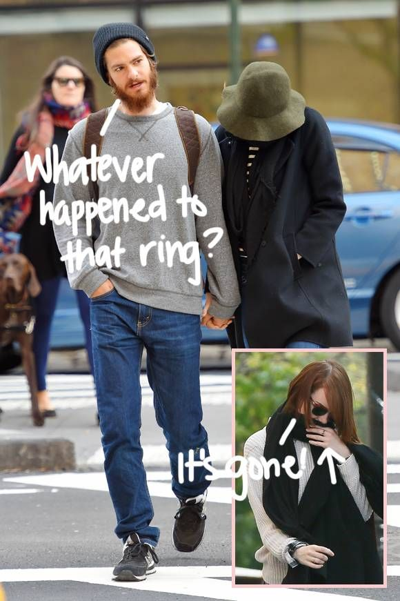 Emma Stone Hides From The Cameras On An Outing With Andrew Garfield, But Wait -- What Happened To The Suspicious Ring On Her Finger??