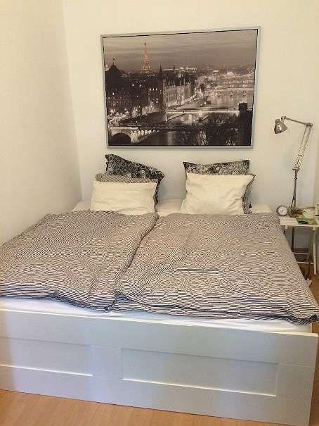 IKEA BRIMNES Bettgestell inkl. Lattenroste