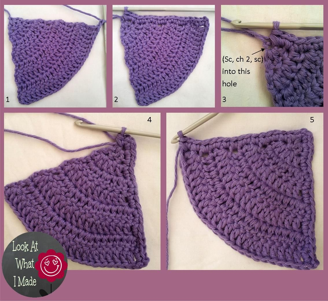 learn to crochet circles into squares   Iced Pie Square Crochet ...