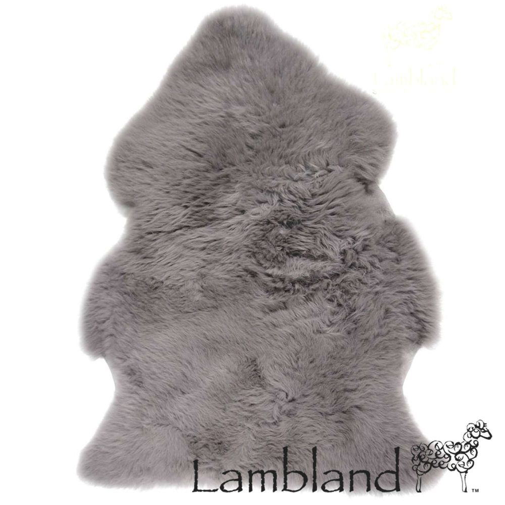 Slate Grey Genuine Large Sheepskin Rug