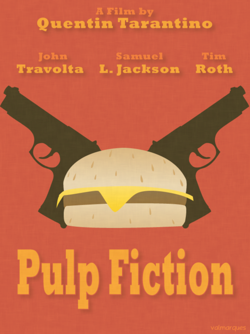 Pulp Fiction 1994 Minimal Movie Poster By Val Marques Amusementphile