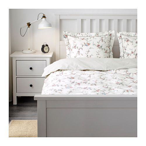 sten rt housse de couette et taie fleur 150x200 50x60 cm couettes ikea et place. Black Bedroom Furniture Sets. Home Design Ideas