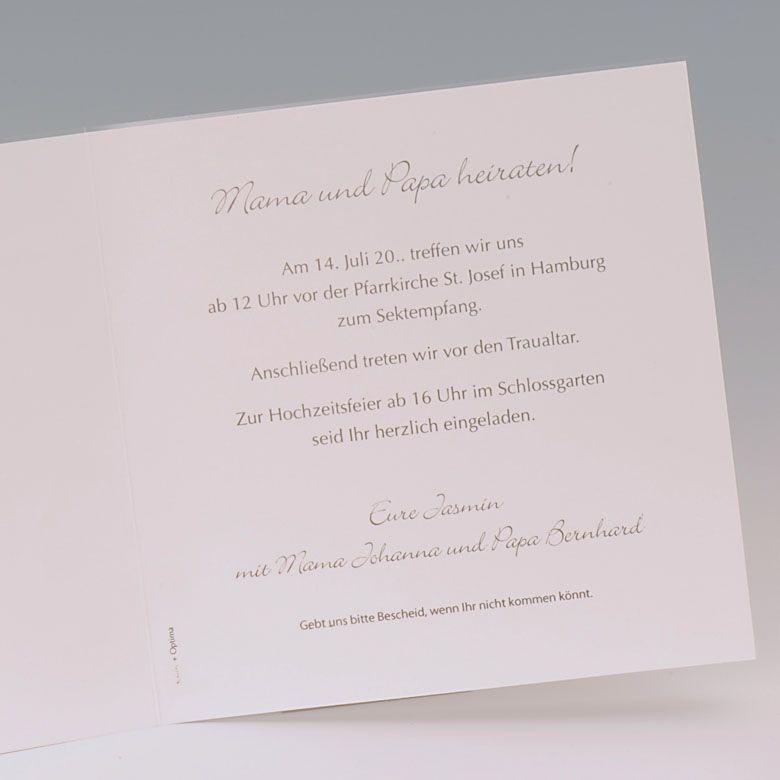 Hochzeitskarte Mama Papa Heiraten Taufe Baby Traufe Grau Hochzeitskarten Karte Hochzeit Kirchenheft Hochzeit Vorlage