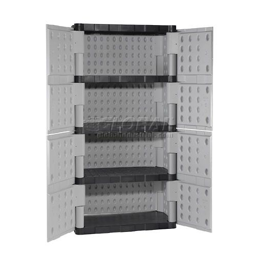 Contemporary Double Door Storage Cabinet Collection
