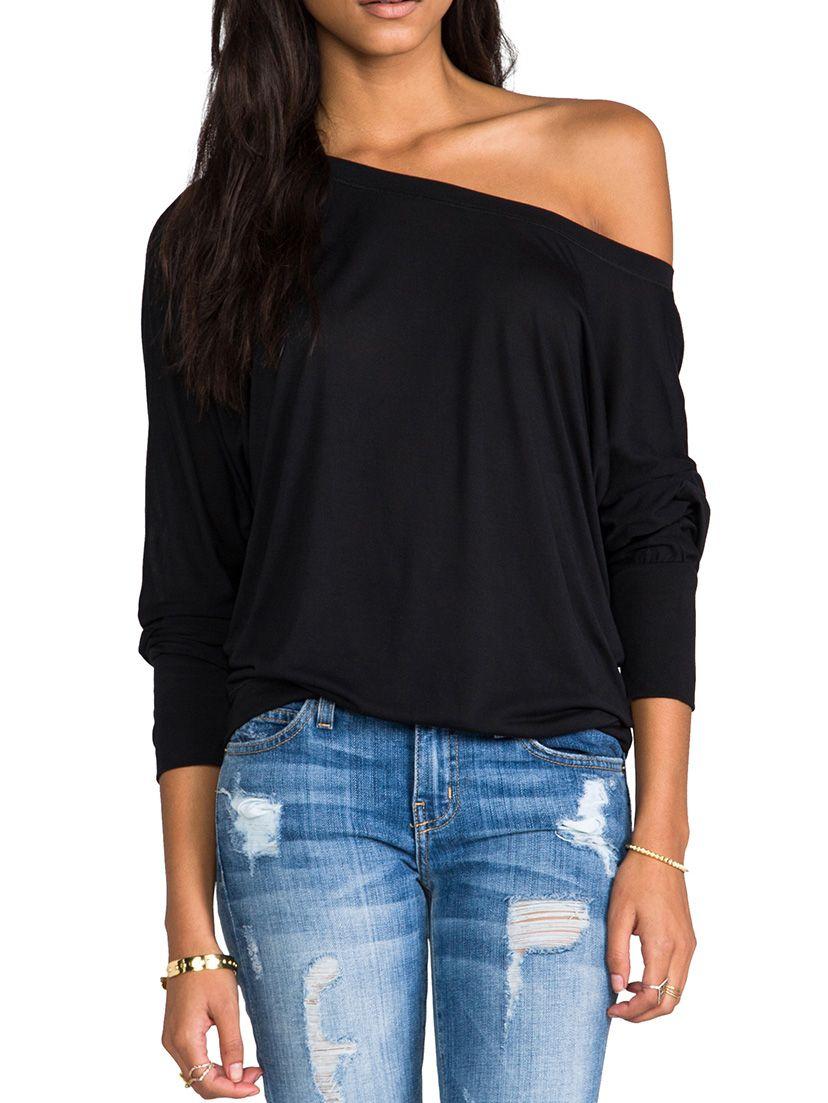 camiseta manga larga relax fit-(Sheinside)