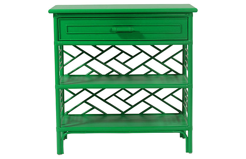 Chippendale Nightstand Bright Green David Francis Furniture