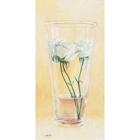 Posterazzi First rose of the season II Canvas Art - Wouter Roelofs (24 x 48)