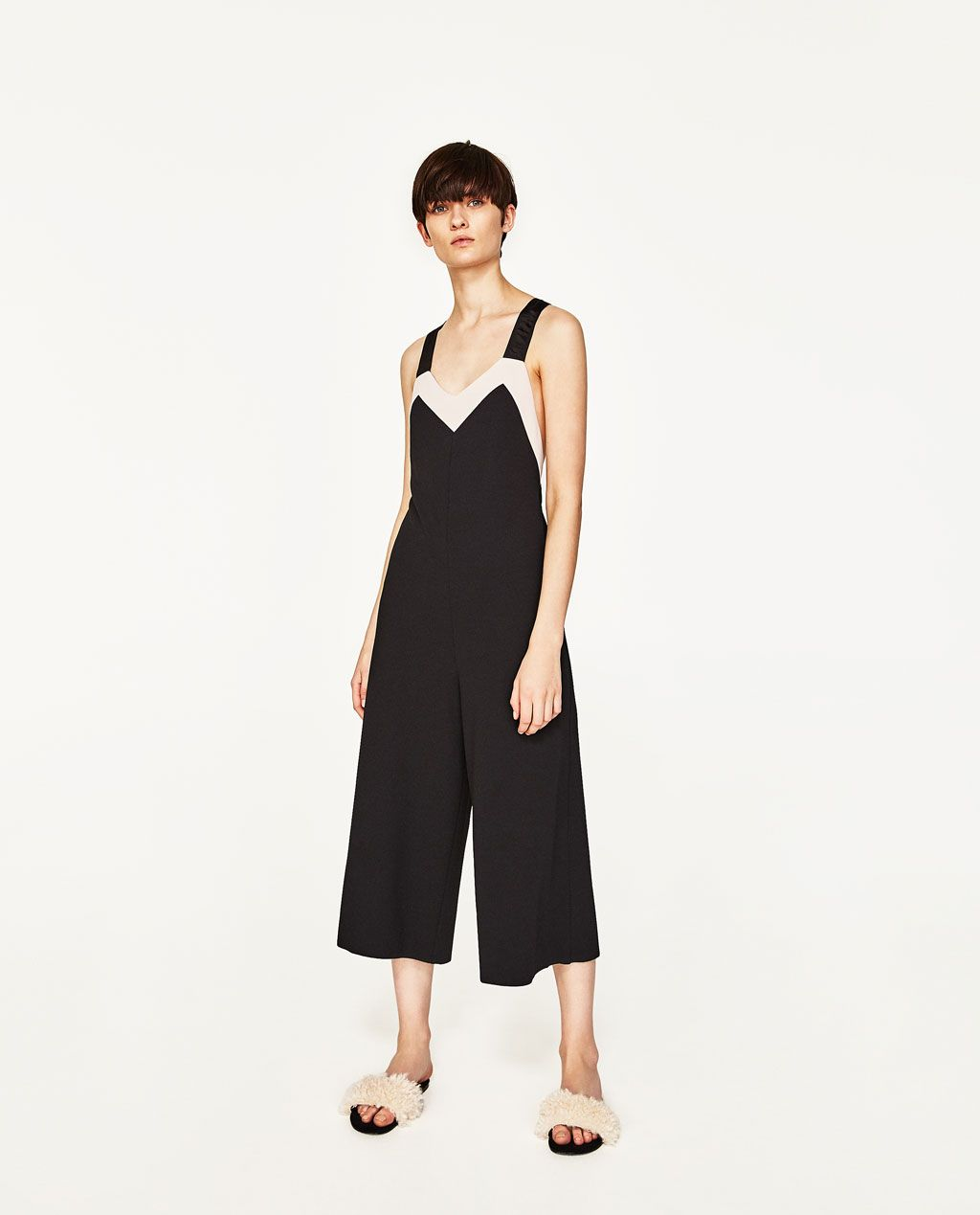 a4887a0debe TWO-TONE CROPPED JUMPSUIT-JUMPSUITS-WOMAN