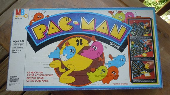 Pac Man Board Game by ABigSalad on Etsy, i really want this one i loved this game