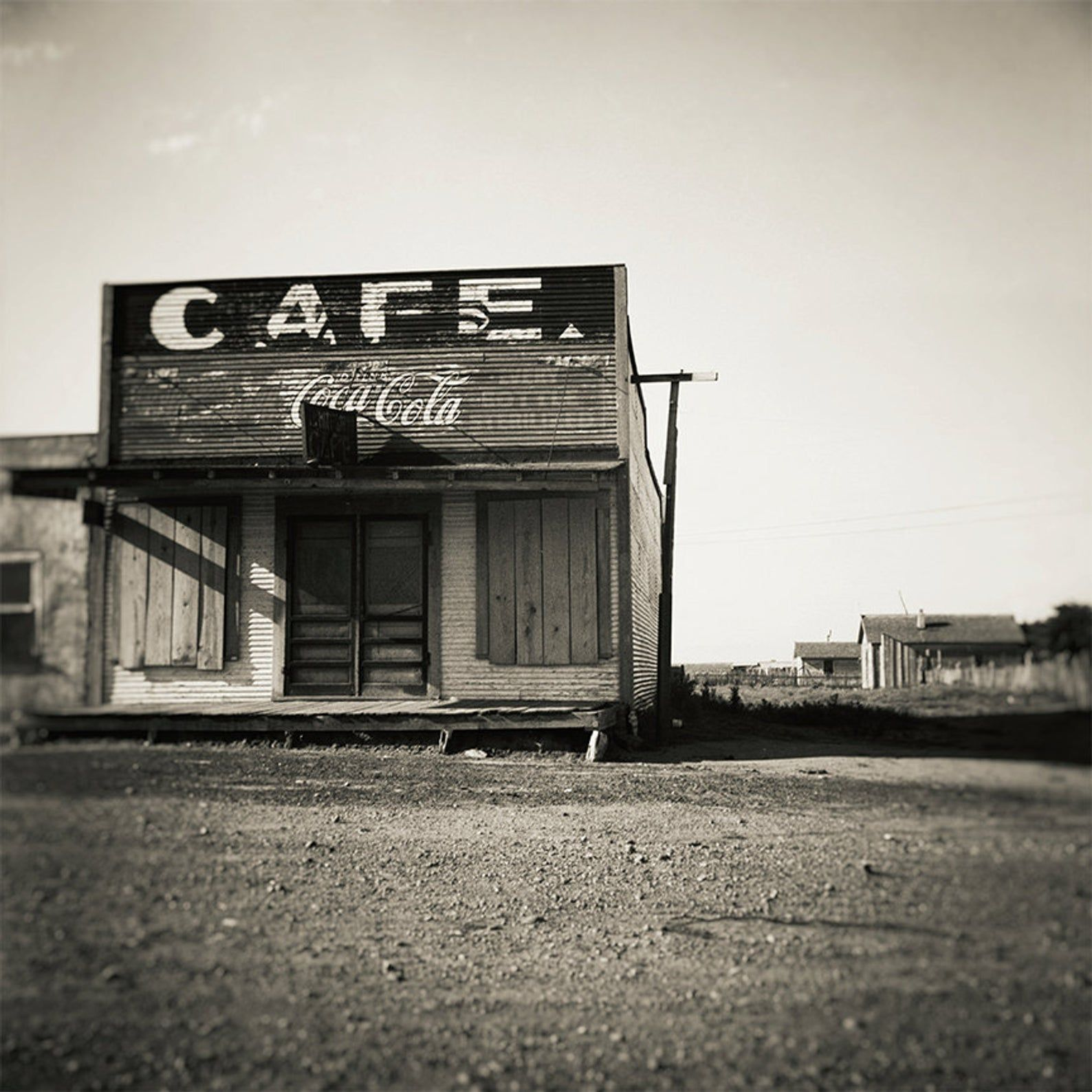 Ghost Town Photo Carey County Texas Rustic Home Decor Black Etsy Ghost Towns Cafe Wall Art Dust Bowl