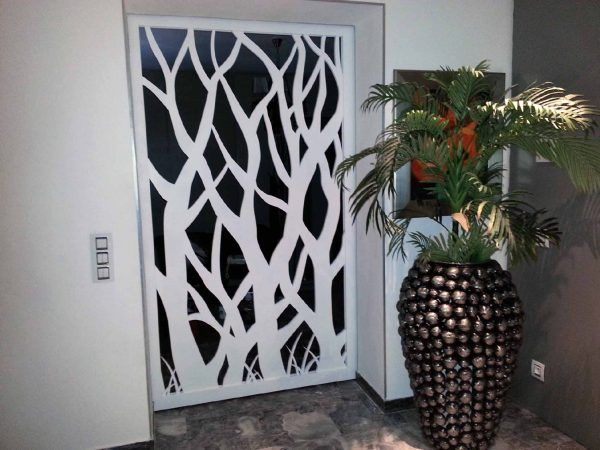 Porte Intérieure Originale porte intérieure ajourée originale   cnc corte em plasma vinyl e mdf